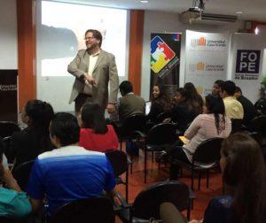 David LaFontaine teaching in Ecuador