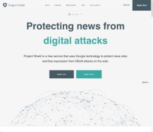 project shield main page
