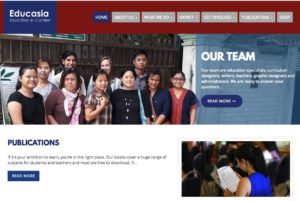 home page for educasia site